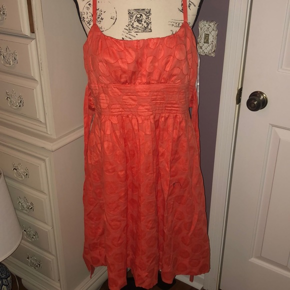 Dress Barn Dresses & Skirts - Coral color dress with thin straps